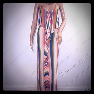 NWOT Quiksliver Multicolored Maxi sz XS